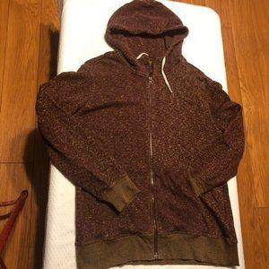 Hurley Men's Hoodie Sweatshirt, Maroon/Gold  XL